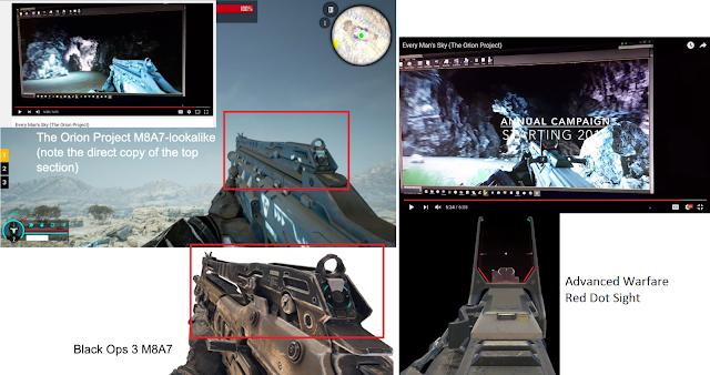 Orion es retirado de Steam por plagiar armas de Call of Duty 1