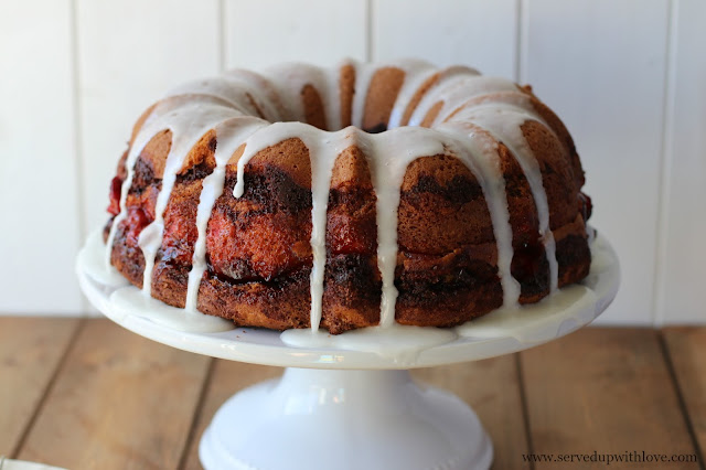 Easy Cherry Coffee Cake recipe from Served Up With Love