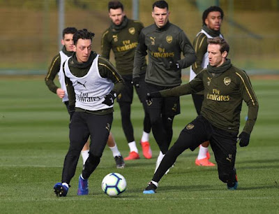 arsenal training manchester united