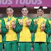 Conjunto do Brasil brilha na prova mista e fecha o Pan com medalha de ouro na ginástica rítmica
