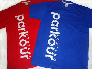 contoh desain sablon kaos komunitas parkour Indonesia