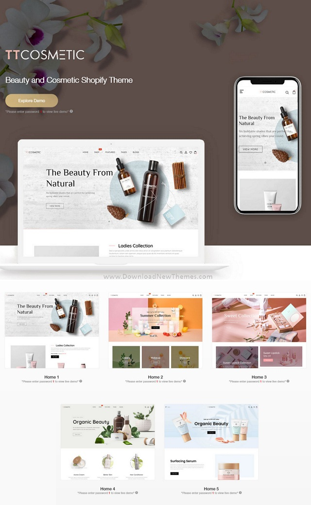 Beauty & Cosmetics Shop Responsive Shopify Theme