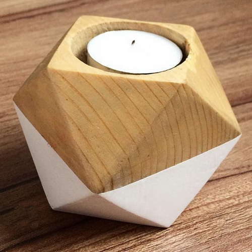 Tinuku Studio Balok Living presenting series wooden candle holder design for romantic moments