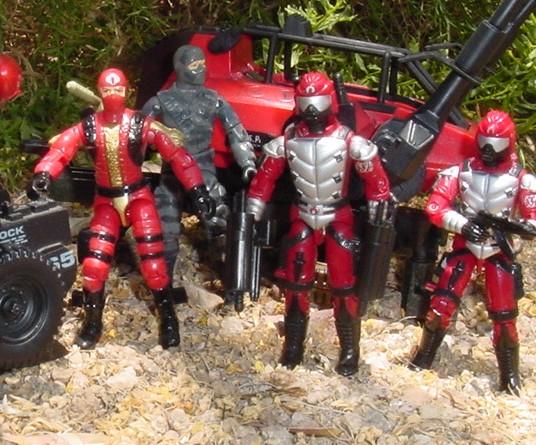 1984 Firefly, 1991 Crimson Guard Immortal, 2002 Fast Blast Viper, SMS, ASP
