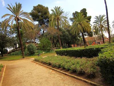Passeig de les Palmeres en el Parque de Can Vidalet