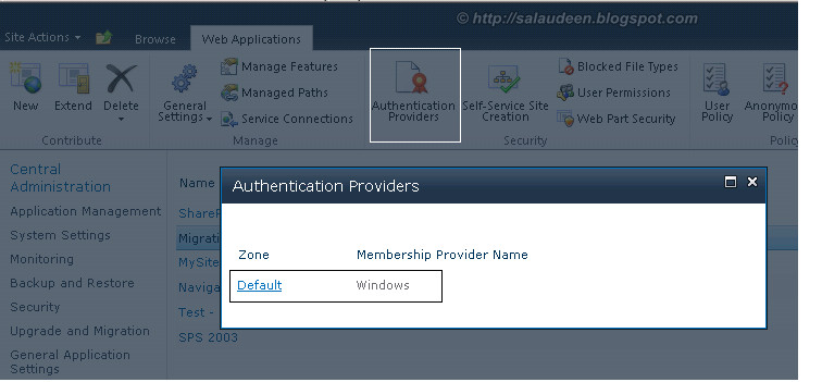 Enable Anonymous Access - Authentication Providers