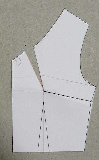 Pinza de escote abierta y patrón aplanado
