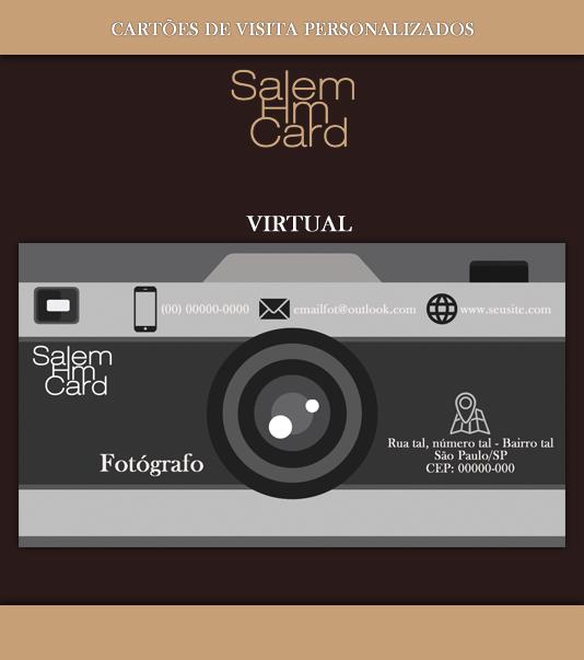 Cartão de Visita - Modelo 1 - Fotografia - Virtual