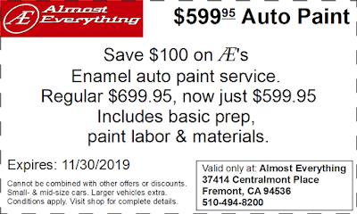 Coupon $599.95 Auto Paint Sale November 2019