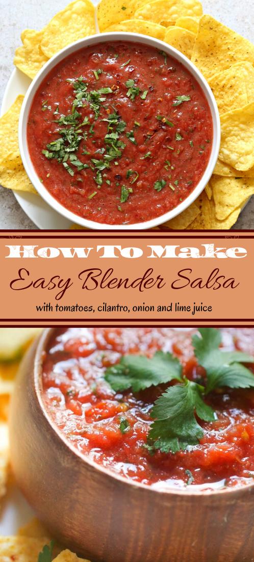 Easy Blender Salsa #vegan #vegetarian #soup #breakfast #lunch