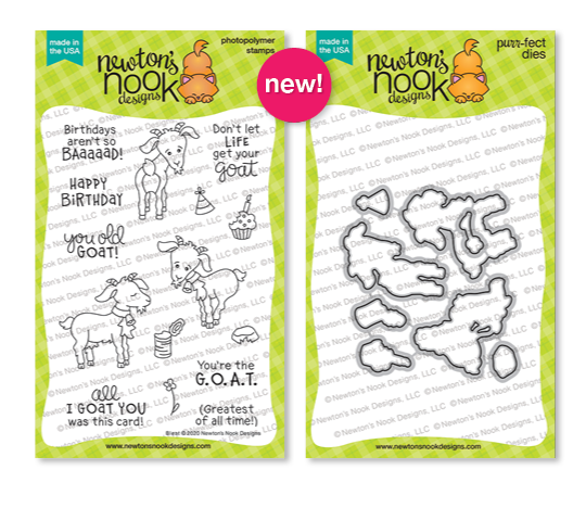 Bleat Stamp Set and Bleat Die Set by Newton's Nook Designs #newtonsnook #newtonsnookdesigns #bleat #junerelease2020