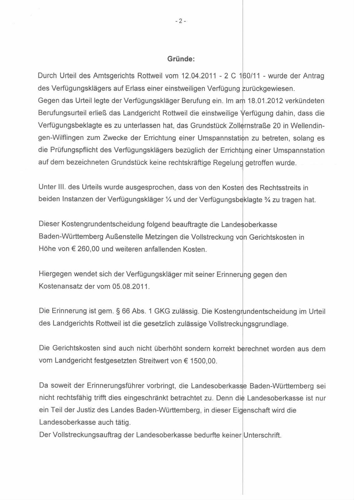 eingeschreibenen brief kündigung urteil bgh