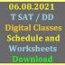 T SAT DD SCERT Digital Classes Schedule and Worksheets Download
