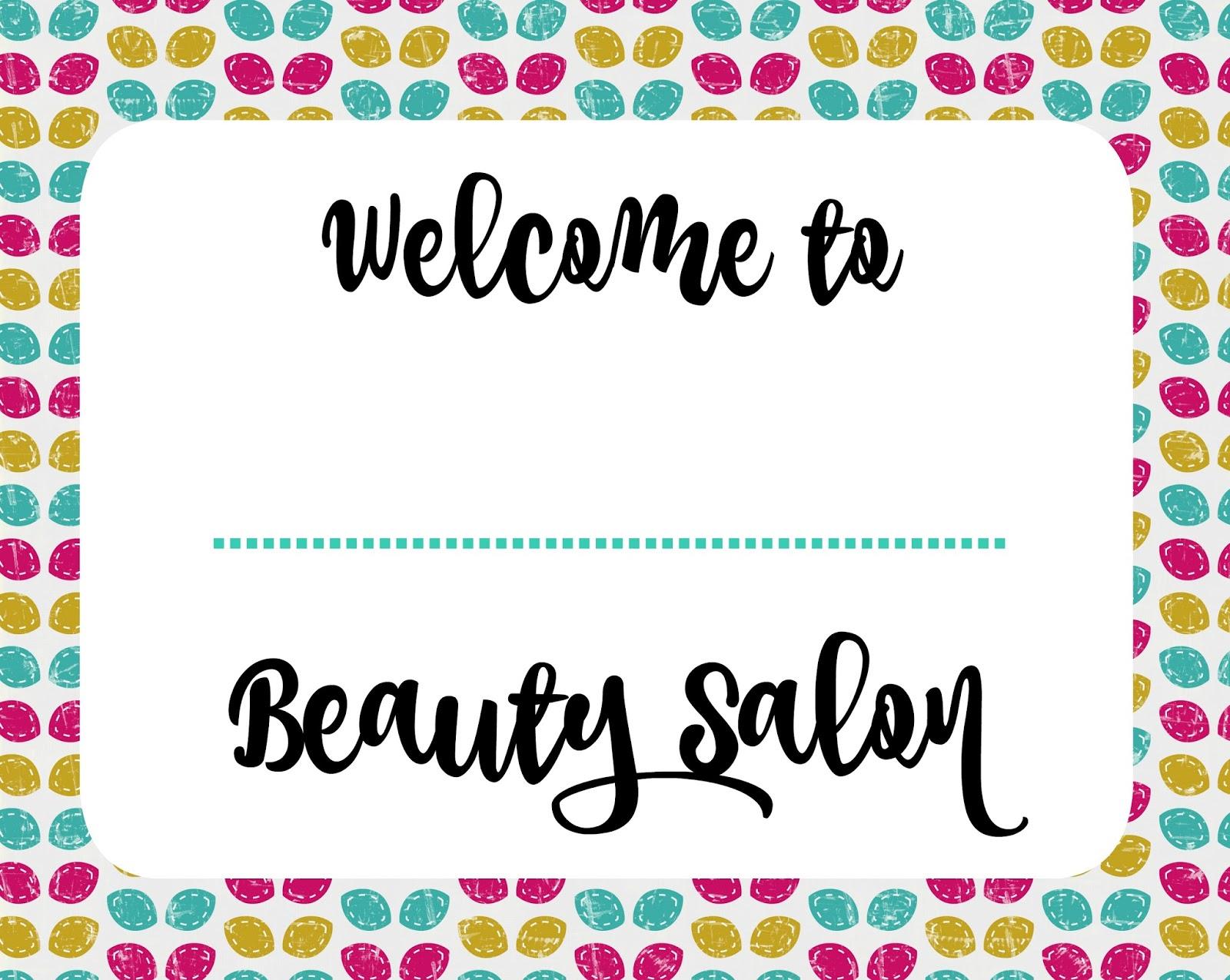 Musings Of An Average Mom Beauty Salon Printables