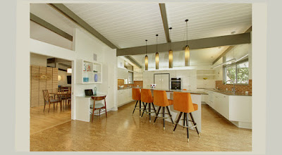 Photo Preview for Mid Century Modern Kitchen Design Good Idea 4 Lamp 4 Chair With Good Lighting