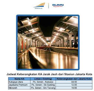 Tiga Kereta Berikut Tidak Berhenti Pasar Senen Langsung Jakarta Kota