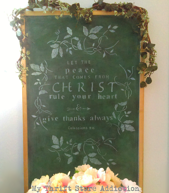 how to stencil a chalkboard