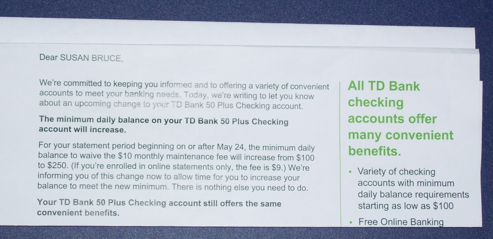 Td Bank How Much To Open An Account