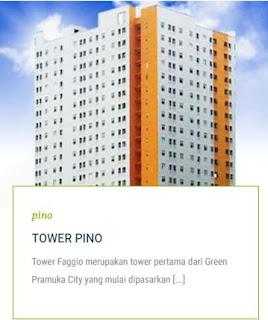 TOWER PINO Apartemen Green Pramuka City