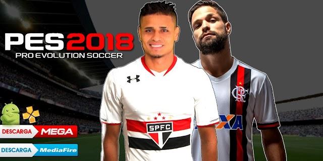 SAIU!! PES 2018 NOVO PATCH COM BRASILEIRÃO e EUROPEU ATUALIZADO GRAFICOS HD PARA PPSSPP/PSP/PC/ANDROID