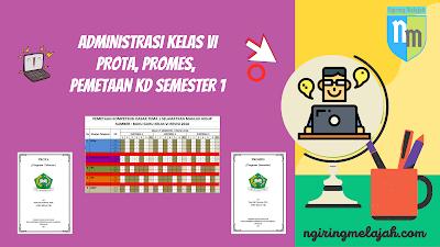 KI dan KD, Pemetaan KD Semester 1, Prota, dan Promes Semester 1 SD Kelas VI