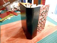 Encuadernacion holandesa con papel sólo en la tapa