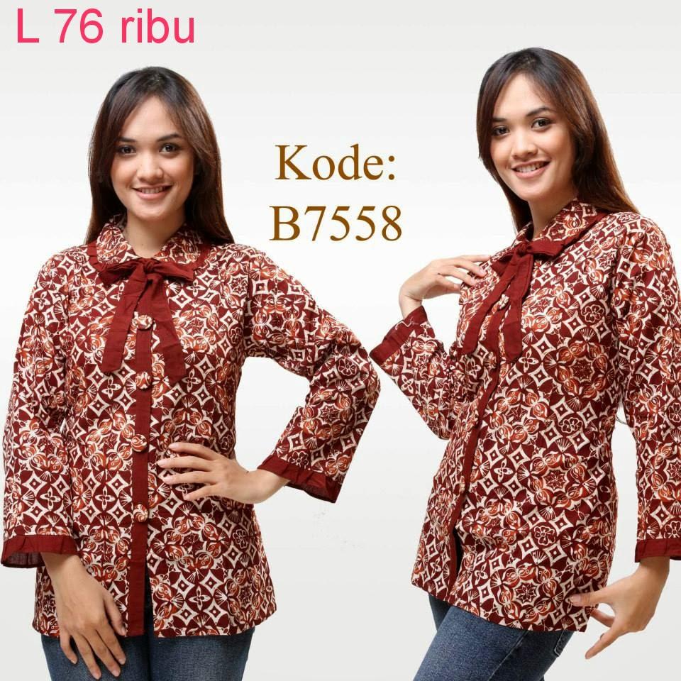 Model Atasan Baju Batik Wanita: Model Baju Atasan Batik Wanita Modern