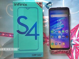 Unboxing HP Infinix S4 6/64 GB Harga di bawah 2 Juta