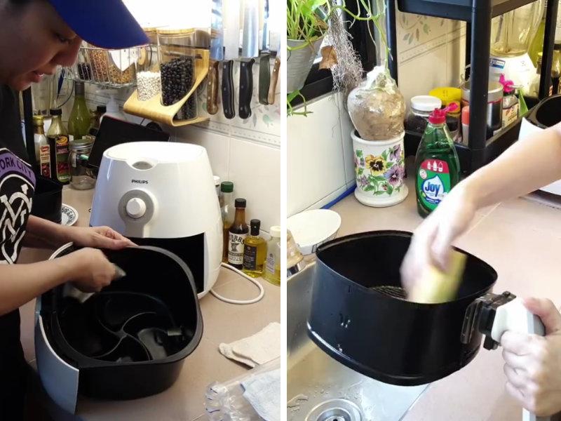 cara cuci air fryer dengan mudah dan betul