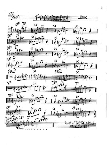 Partitura Violonchelo Thelonious Monk
