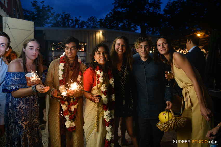 Outdoor Indian Wedding Fireworks at German Park Jazz Music SudeepStudio.com Ann Arbor Indian Wedding Photographer