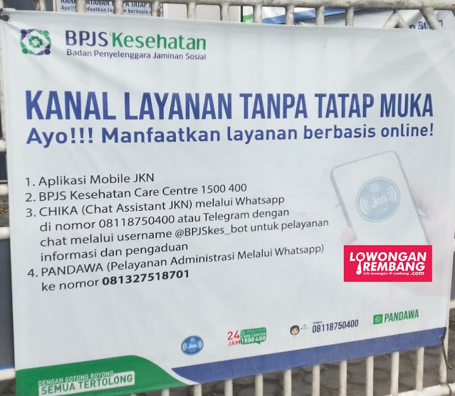 Kanal Layanan Tanpa Tatap Muka BPJS Kesehatan Kabupaten Rembang