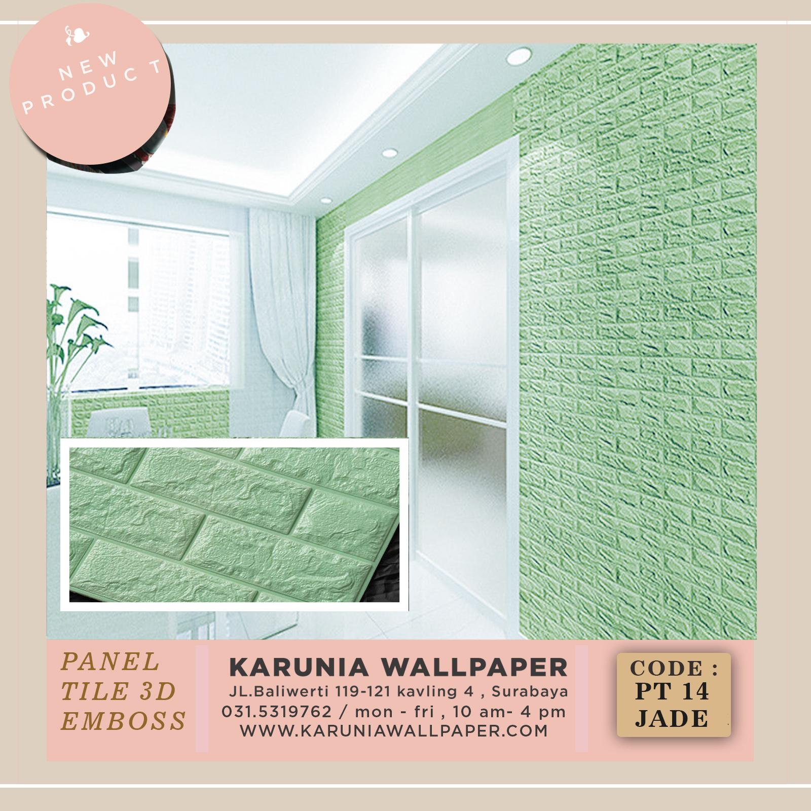 jual dinding timbul batu bata hijau