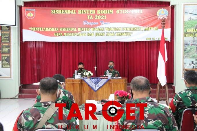 Dandim Pati : Sisrendal Binter Agar Prajurit Mempunyai Daya Juang Yang Tangguh Untuk Pertahanan Rakyat Semesta