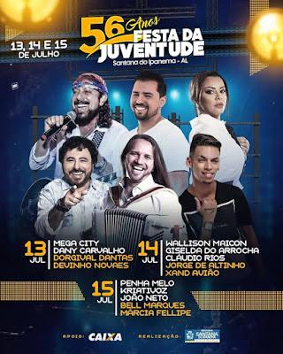 MPE/AL, firma TAC para ordenar Festa da Juventude em Santana do Ipanema