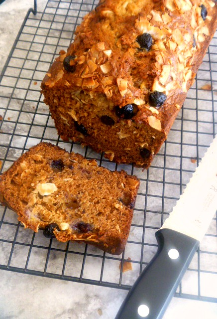 It's Baking Day! Try my tender and fluffy Blueberry Coconut Banana Bread. One bite won't be enough! - Slice of Southern