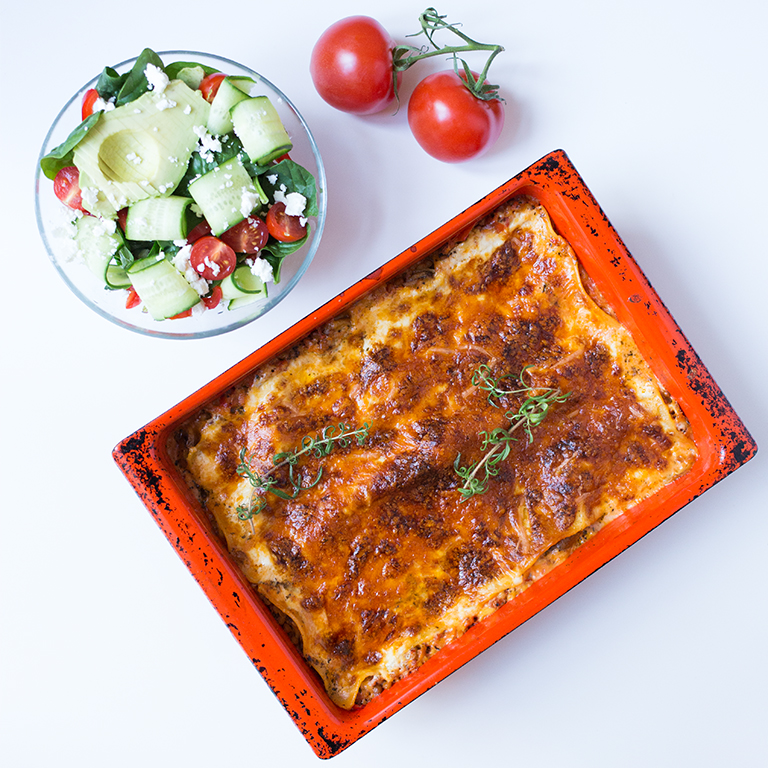 Smakfull Vegetarlasagne Frisk Salat Som Tilbehør Maria Uldahl