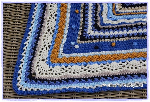gehaakte deken mint blauw