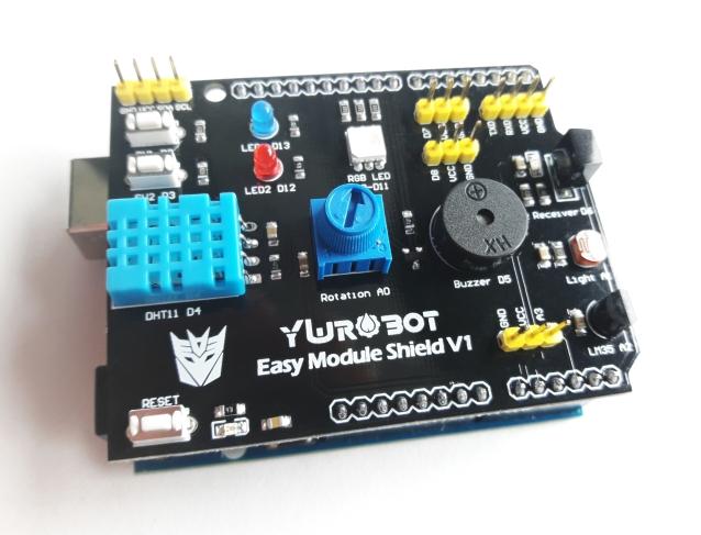 Shield Arduino Multifunções e Arduino Uno