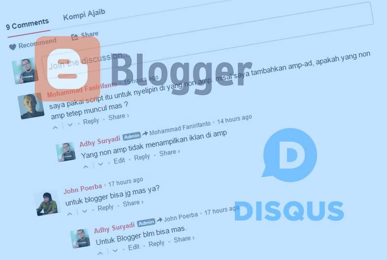 Disqus Khusus Untuk Blogger Dengan AMP HTML