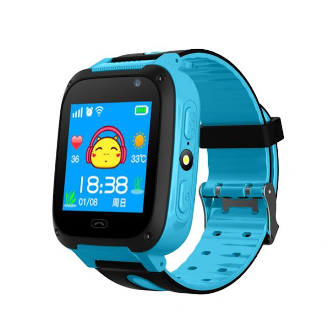 $7.99 / €6.86 for Ultra-Thin GPS Smart Watch Phone with LED Light for Kids