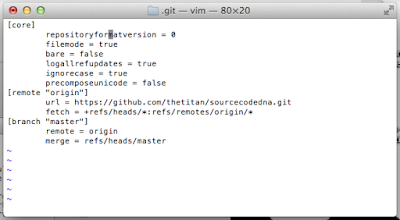 Git config file without site username.