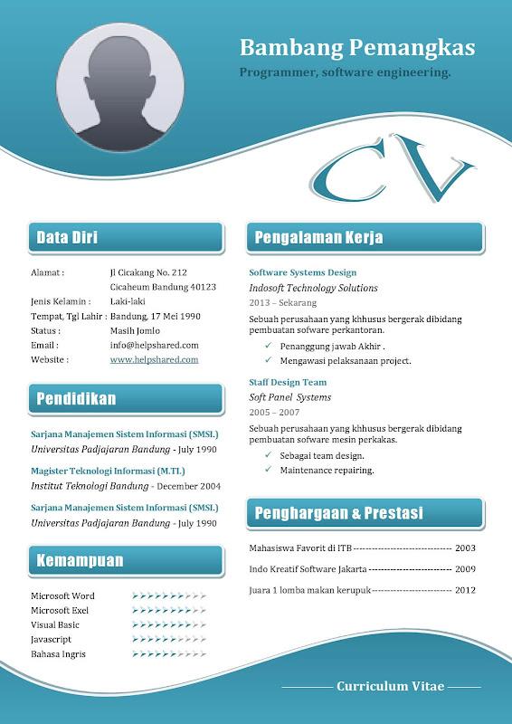contoh cv curriculum vitae