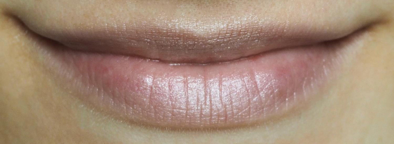 Nude-Lippenstift mit Highlighter selbstgemacht Tragefoto