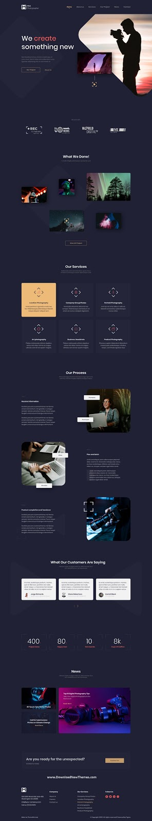 Photographer Website Figma Template