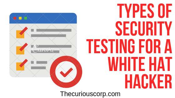 what is security testing and types of security testing