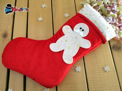 come realizzare una calza natalizia in velluto