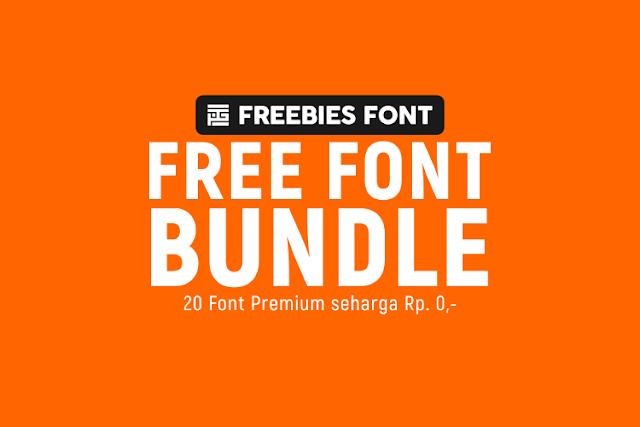 Free Font Bundle : 20 Font Premium Seharga Rp. 0,-