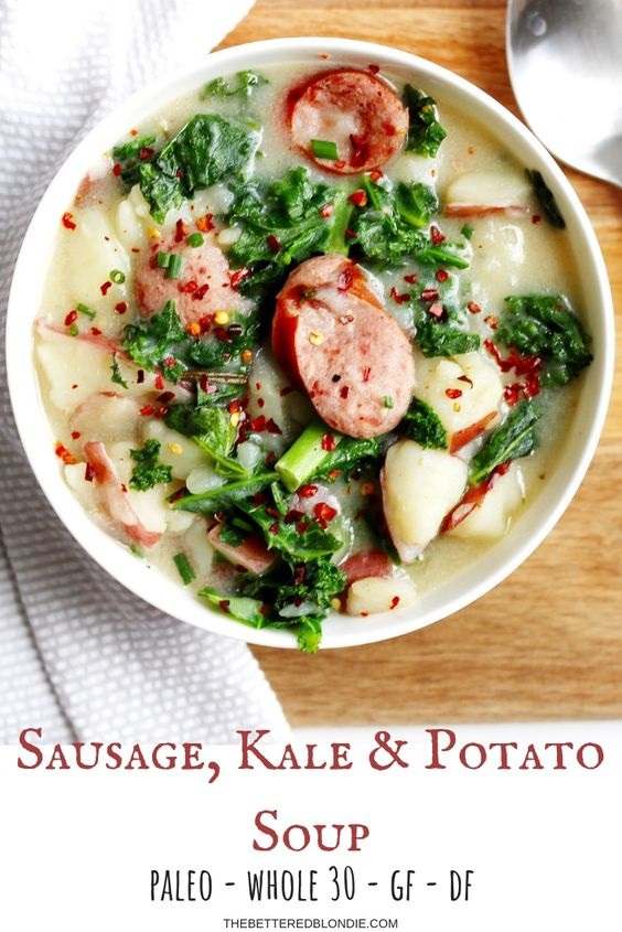 Sausage, Kale And Potato Soup
