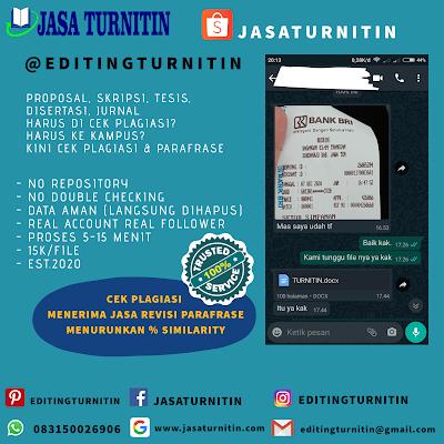 Jasa Cek Dan Revisi Turnitin Online Murah Mudah Cepat Di Kalimantan Timur